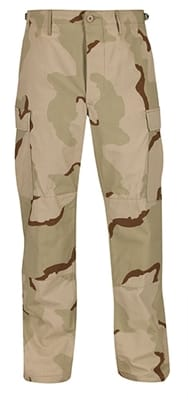 Picture of Men's BDU Trouser with Button Fly Pants - 3-Color Desert - L - Regular