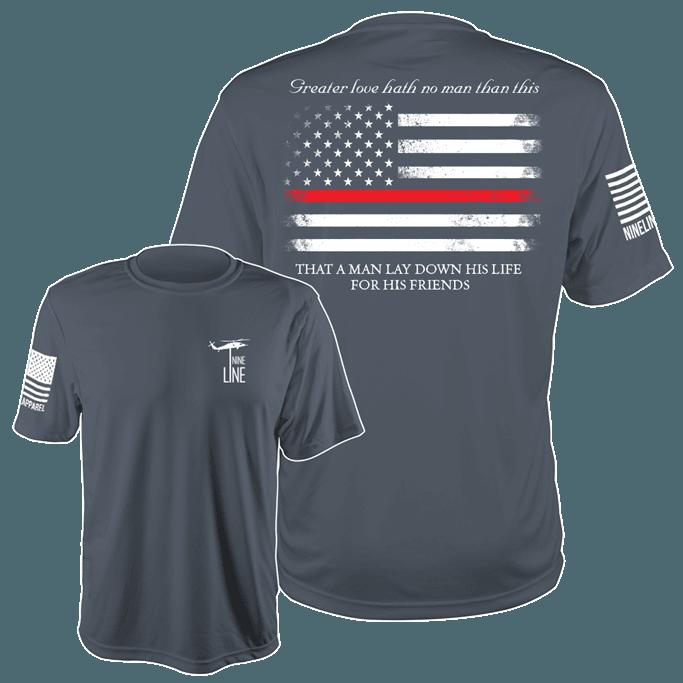 Nine Line - Thin Red Line Moisture Wicking T-Shirt Gov't & Military