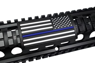 Picture of U.S. Flag Blue Line - Black - Stars Right - PVC070BLF-6
