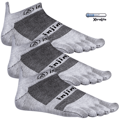Picture of Run Lightweight No Show Socks - 3 Pack - Gray - M