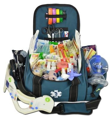 Picture of Large First Responder Bag With Deluxe Fill Kit - Navy Blue