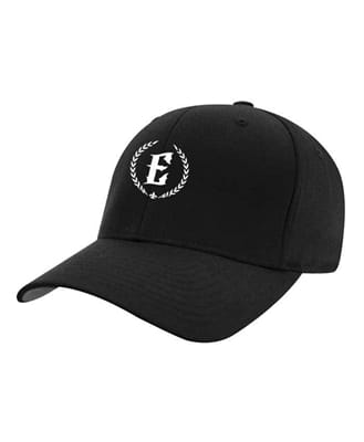 Picture of Fitted Flexfit Wreath Eruption Logo Hat - Black - S/M