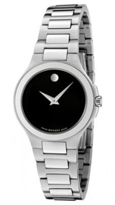 Picture of Women's Movado Museum Collection Watch - Steel/Black