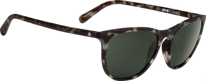 91e8fbe1bc Cameo Sunglasses - Soft Matte Smoke Tort - Happy Gray Green