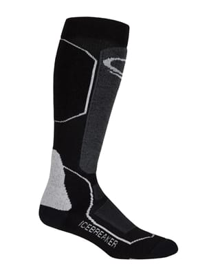 Picture of Women's Ski+ Medium OTC Socks - Black - Oil - Silver - L