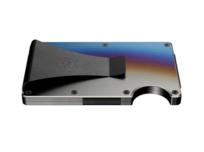 Picture of Titanium Ridge Wallet Money Clip - Titanium/Burnt