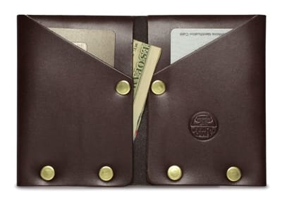 Picture of Hammer Riveted Wallet - Brown Leather/Gold Rivets