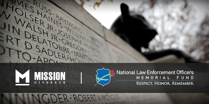Orders This Month Will Support the National Law Enforcement Officers Memorial Fund