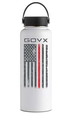 Picture of Hydro Flask 40 oz Thin Red Line Bottle