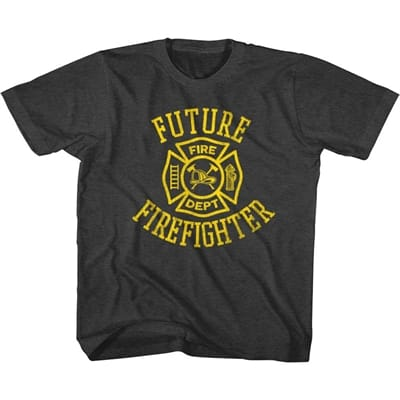 Picture of Kid's Future Firefighter T-Shirt - Black Heather - L