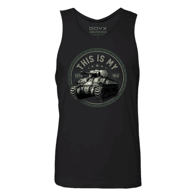 """Picture of Men's """"This is My Tank"""" Tank Top - GovX Exclusive - Black - XL"""