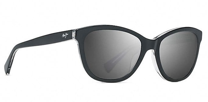 ede66a44a845 Melika Polarized Sunglasses - Gloss Black with Silver temples - Neutral Gret