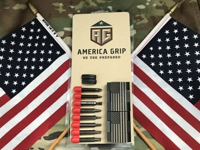 Picture of America Gun Grip Set - US Flag Black