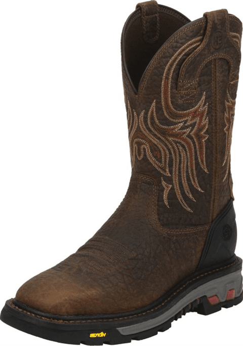 eca5cfc0391 Justin Original Workboots - Men's Tumbled Mahogany Brown Buffalo ...
