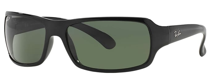 fac6fc6736f73c Ray-Ban - Large Rectangle Wrap Polarized Sunglasses Gov t   Military ...