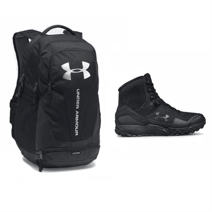newest b29e1 58d6a UA Valsetz 1.5 and Hustle 3.0 Backpack Bundle - Black - 10